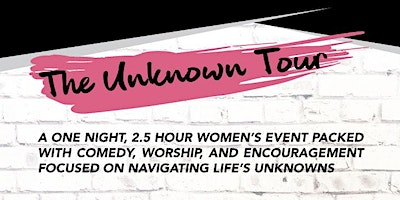 The Unknown Tour 2020 - Norfolk, MA