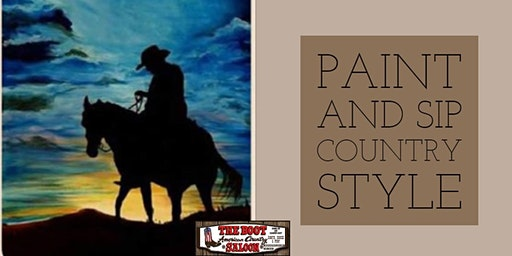 Paint and Sip (Country Style!) at The Boot