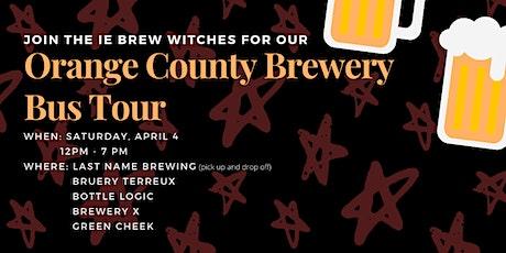 POSTPONED Orange County Brewery Bus Tour tickets