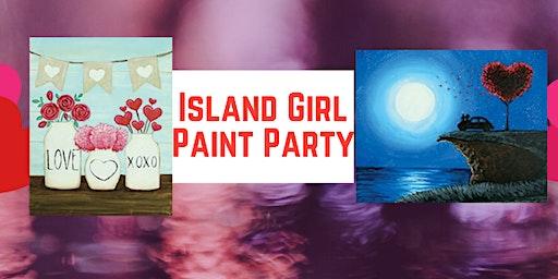 Island Girl Paint Party at Mammoth Burger