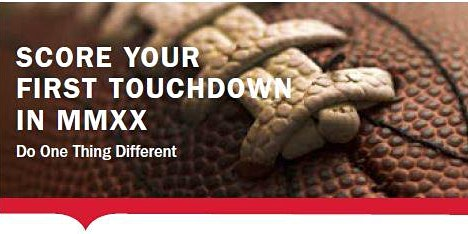 Do One Thing Different: Score Your First Touchdown in 2020!