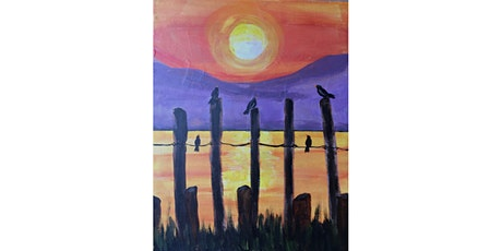 Crows on the Pier Paint & Sip Night - Art Painting, Drink & Food tickets