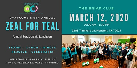 9th Annual ZEAL FOR TEAL Survivorship Luncheon tickets