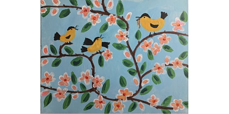 CANCELLED: Maud Lewis Birds Painting Paint & Sip Night - Snacks Included tickets