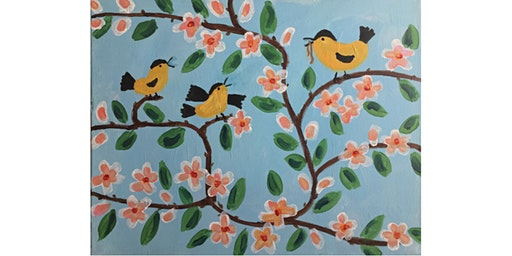 Maud Lewis Birds Painting Paint & Sip Night - Snacks Included