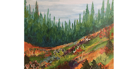 CANCELLED: Mountain Meadow Painting Paint & Sip Night - Snacks Included tickets