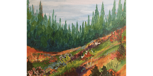 Mountain Meadow Painting Paint & Sip Night - Snacks Included