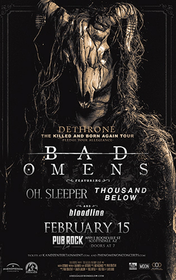 Bad Omens Oh Sleeper Thousand Below Bloodline Tickets Sat