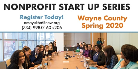 Wayne County Nonprofit Start Up Series - Spring 2020  tickets