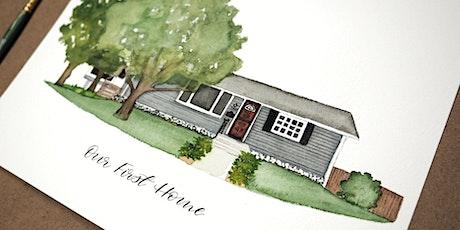 Watercolor Home Portrait Class- March 7 tickets
