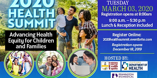 2020 Health Summit: Advancing Health Equity for Children and Families