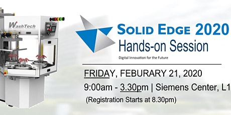 Solid Edge 2020 Hands-On Workshop @ The Siemens Center tickets