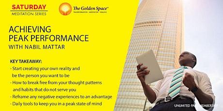 Achieving Peak Performance tickets