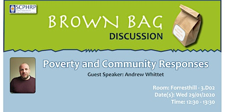 SCPHRP Brown Bag Series: Poverty and Community Responses tickets