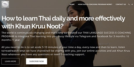 Thai Language Success E-Coaching Program (Full 9 modules for 1 year) tickets