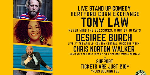 Live Stand up Comedy with Headliners Tony Law and Desiree Burch