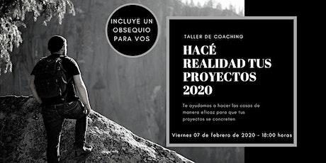 TALLER PARA LLEVAR ADELANTE LOS PROYECTOS 2020 entradas