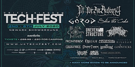 UK Tech-Fest 2020 - Technical, progressive metal festival tickets