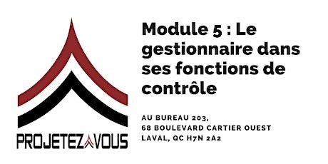 MODULE 5 : LE GESTIONNAIRE DANS SES FONCTIONS DE CONTRÔLE tickets