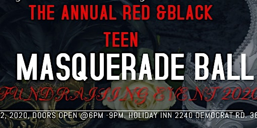 RED AND BLACK TEEN MASQUERADE