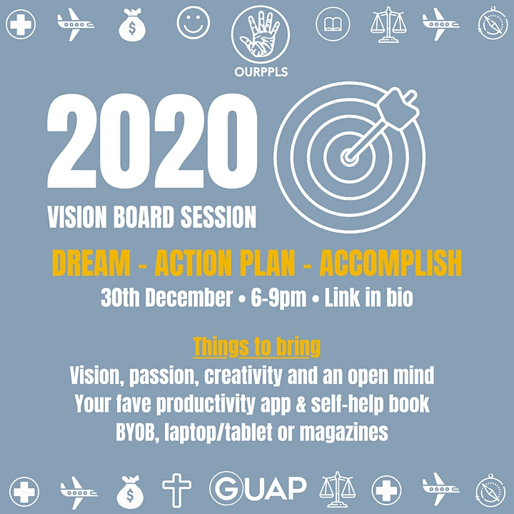 2020 Vision Board Club image