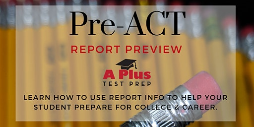 ACT Pointers: Learn how to use your student's Pre-ACT report for college admissions & scholarships & higher ACT scores. Feb. 2