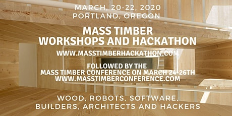 Mass Timber Workshops and Hackathon tickets