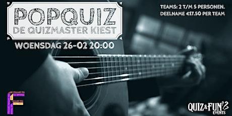 PopQuiz, De Quizmaster kiest | Utrecht tickets