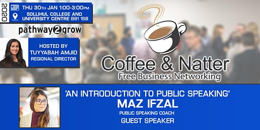 Solihull Coffee & Natter - Free Business Networking Thu 30th Jan 2020