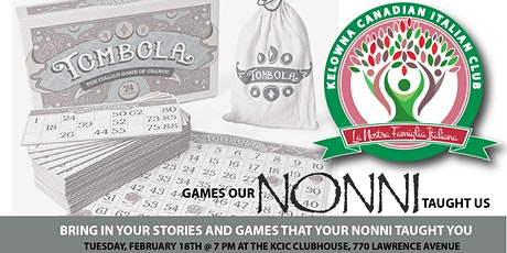 Nostri Giochi dei Nonni: Games Our Nonni Taught Us tickets