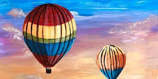 Paint Night! Hot Air Balloon Sunset