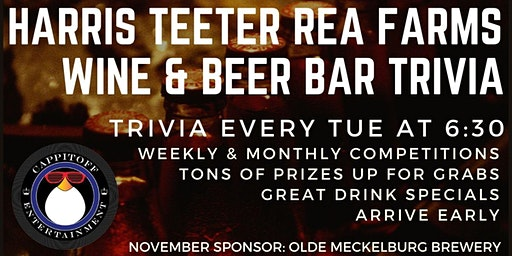 Tue Trivia at Harris Teeter Rea Farms Wine & Beer Bar