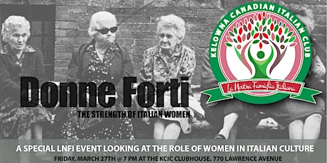 LNFI: Donne Forti: The Strength of Italian Women tickets