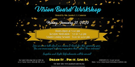 2020 Vision Board Workshop :: Ready Set Go tickets