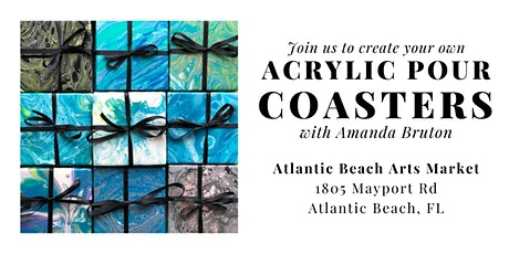 Create Your Own Acrylic Pour Coasters! tickets