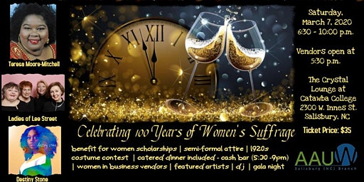 The Salisbury Branch of AAUW Presents ~ It's About Time: 100 Years Gala