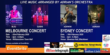 Melbourne Show - Amazing Melodies of Rajesh Roshan by Adrian's Orchestra tickets