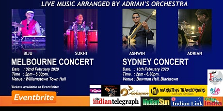 Sydney Show - Amazing Melodies of Rajesh Roshan by Adrian's Orchestra tickets