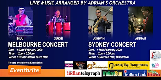 Sydney Show - Amazing Melodies of Rajesh Roshan by Adrian's Orchestra
