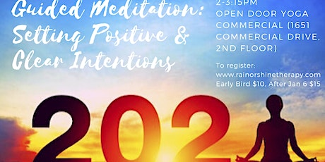 Guided Meditation: Setting Positive and Clear Intentions for 2020 tickets