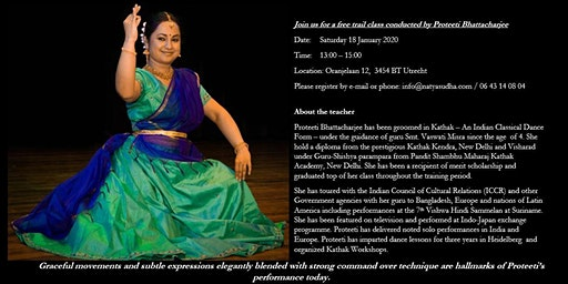 free trail Kathak class conducted by Proteeti Bhattacharjee