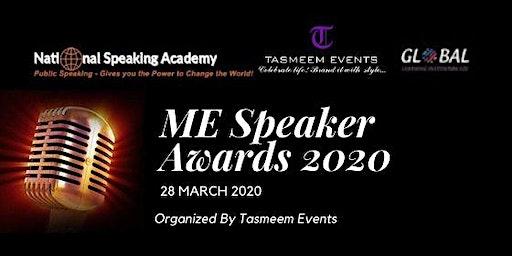 Middle East Speaker Awards 2020