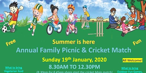 Annual Chinmaya Family Picnic /          Cricket Match
