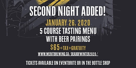 In The Dead Of Winter - Beer Dinner & Celebration tickets