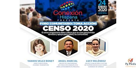 Foro Comunitario: Censo 2020, Toma acción! entradas