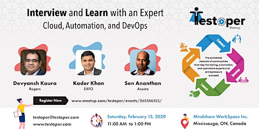 Testoper Meetup Feb 15, 2020 (Cloud, Automation, and DevOps)