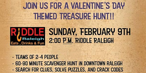 Downtown Raleigh Valentine's Treasure Hunt - Riddle Raleigh