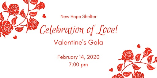 "New Hope Shelter ""Celebration of Love"" Valentine's Gala"