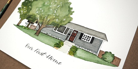 Watercolor Home Portrait Class- April 4 tickets