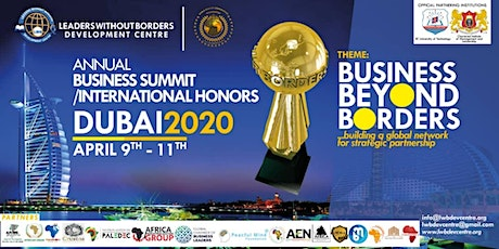 LEADERS WITHOUT BORDERS ANNUAL BUSINESS SUMMIT / INTERNATIONAL HONORS 2020 tickets
